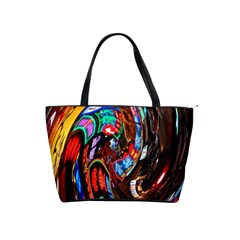 Abstract Chinese Inspired Background Shoulder Handbags