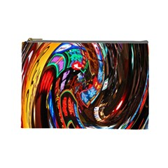 Abstract Chinese Inspired Background Cosmetic Bag (Large)