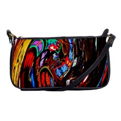 Abstract Chinese Inspired Background Shoulder Clutch Bags