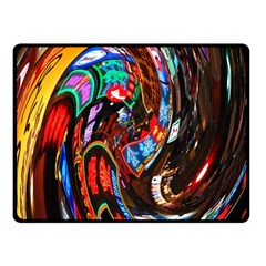 Abstract Chinese Inspired Background Fleece Blanket (small)