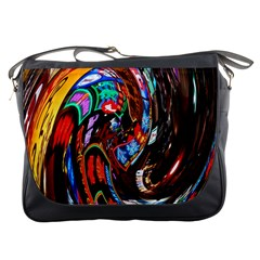 Abstract Chinese Inspired Background Messenger Bags