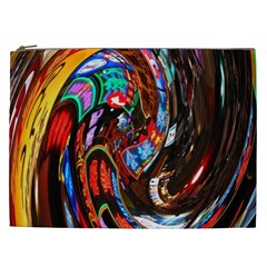 Abstract Chinese Inspired Background Cosmetic Bag (xxl)