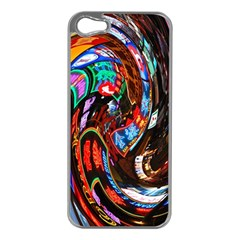 Abstract Chinese Inspired Background Apple iPhone 5 Case (Silver)