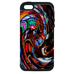 Abstract Chinese Inspired Background Apple iPhone 5 Hardshell Case (PC+Silicone)