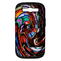 Abstract Chinese Inspired Background Samsung Galaxy S III Hardshell Case (PC+Silicone)