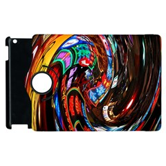 Abstract Chinese Inspired Background Apple iPad 3/4 Flip 360 Case