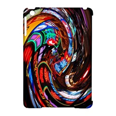 Abstract Chinese Inspired Background Apple Ipad Mini Hardshell Case (compatible With Smart Cover)
