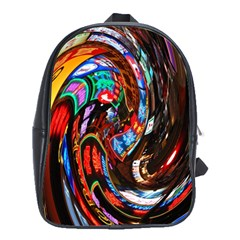 Abstract Chinese Inspired Background School Bags (XL)