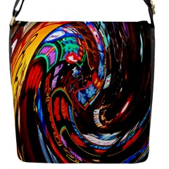 Abstract Chinese Inspired Background Flap Messenger Bag (S)