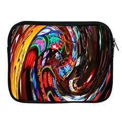 Abstract Chinese Inspired Background Apple iPad 2/3/4 Zipper Cases