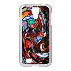 Abstract Chinese Inspired Background Samsung GALAXY S4 I9500/ I9505 Case (White)