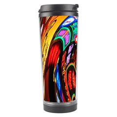 Abstract Chinese Inspired Background Travel Tumbler