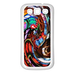Abstract Chinese Inspired Background Samsung Galaxy S3 Back Case (white)