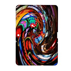 Abstract Chinese Inspired Background Samsung Galaxy Tab 2 (10.1 ) P5100 Hardshell Case