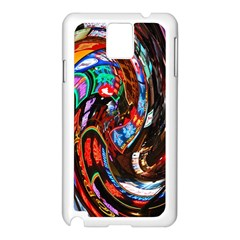 Abstract Chinese Inspired Background Samsung Galaxy Note 3 N9005 Case (White)
