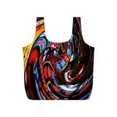 Abstract Chinese Inspired Background Full Print Recycle Bags (S)