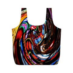 Abstract Chinese Inspired Background Full Print Recycle Bags (M)