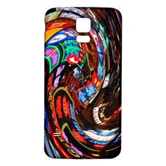 Abstract Chinese Inspired Background Samsung Galaxy S5 Back Case (White)