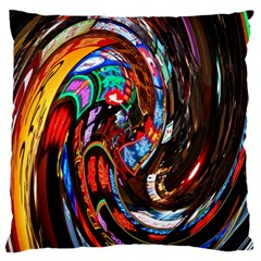 Abstract Chinese Inspired Background Standard Flano Cushion Case (two Sides)