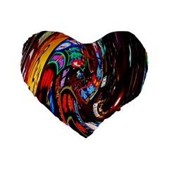 Abstract Chinese Inspired Background Standard 16  Premium Flano Heart Shape Cushions