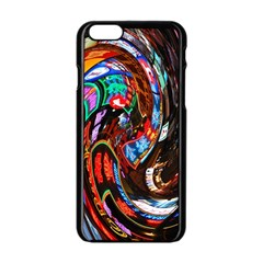 Abstract Chinese Inspired Background Apple iPhone 6/6S Black Enamel Case