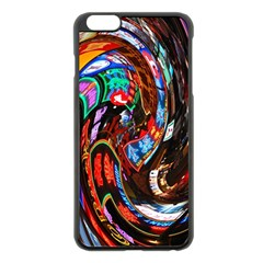 Abstract Chinese Inspired Background Apple iPhone 6 Plus/6S Plus Black Enamel Case