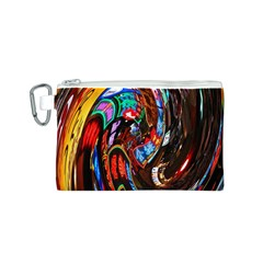 Abstract Chinese Inspired Background Canvas Cosmetic Bag (s)