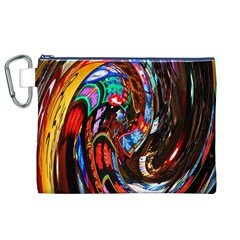 Abstract Chinese Inspired Background Canvas Cosmetic Bag (XL)