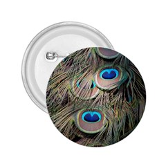 Colorful Peacock Feathers Background 2.25  Buttons