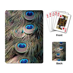 Colorful Peacock Feathers Background Playing Card