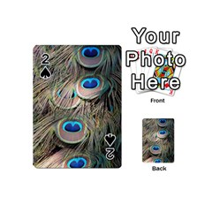 Colorful Peacock Feathers Background Playing Cards 54 (Mini)