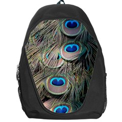 Colorful Peacock Feathers Background Backpack Bag