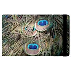 Colorful Peacock Feathers Background Apple iPad 2 Flip Case