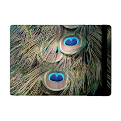 Colorful Peacock Feathers Background Apple iPad Mini Flip Case