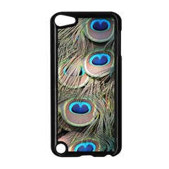 Colorful Peacock Feathers Background Apple iPod Touch 5 Case (Black)