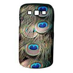 Colorful Peacock Feathers Background Samsung Galaxy S III Classic Hardshell Case (PC+Silicone)