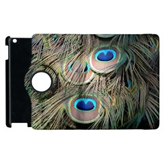 Colorful Peacock Feathers Background Apple iPad 2 Flip 360 Case