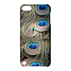Colorful Peacock Feathers Background Apple Ipod Touch 5 Hardshell Case With Stand