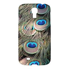 Colorful Peacock Feathers Background Samsung Galaxy S4 I9500/I9505 Hardshell Case
