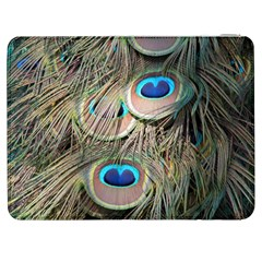 Colorful Peacock Feathers Background Samsung Galaxy Tab 7  P1000 Flip Case