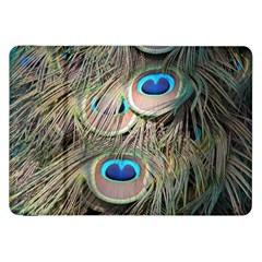 Colorful Peacock Feathers Background Samsung Galaxy Tab 8.9  P7300 Flip Case