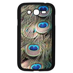 Colorful Peacock Feathers Background Samsung Galaxy Grand DUOS I9082 Case (Black)