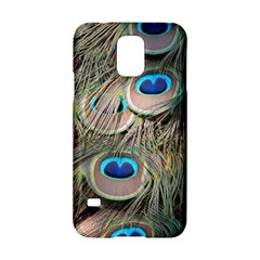 Colorful Peacock Feathers Background Samsung Galaxy S5 Hardshell Case