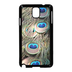 Colorful Peacock Feathers Background Samsung Galaxy Note 3 Neo Hardshell Case (Black)