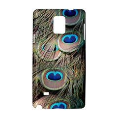 Colorful Peacock Feathers Background Samsung Galaxy Note 4 Hardshell Case
