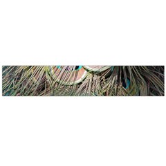 Colorful Peacock Feathers Background Flano Scarf (Large)
