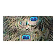 Colorful Peacock Feathers Background Satin Wrap