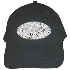 Abstract Pattern Black Cap