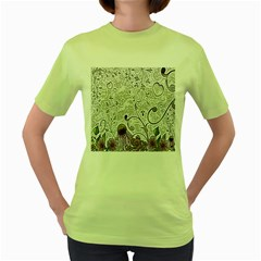 Abstract Pattern Women s Green T-Shirt