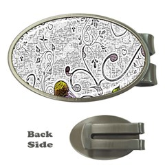 Abstract Pattern Money Clips (oval)